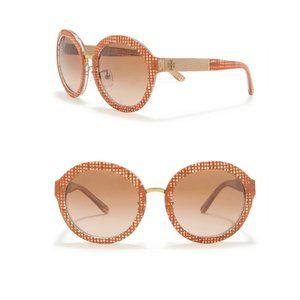 Tory Burch TY7128 54mm Round Sunglasses New $255